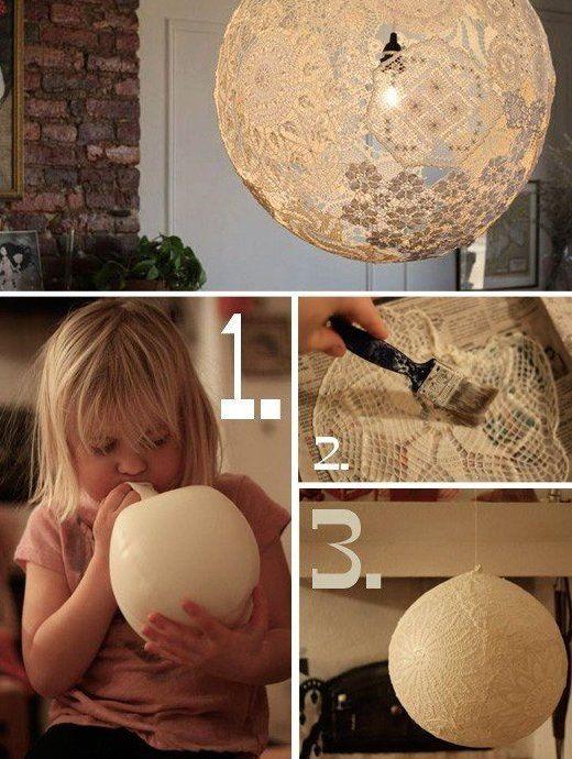 Bastelidee Fr DIY Lampe Aus Luftballon