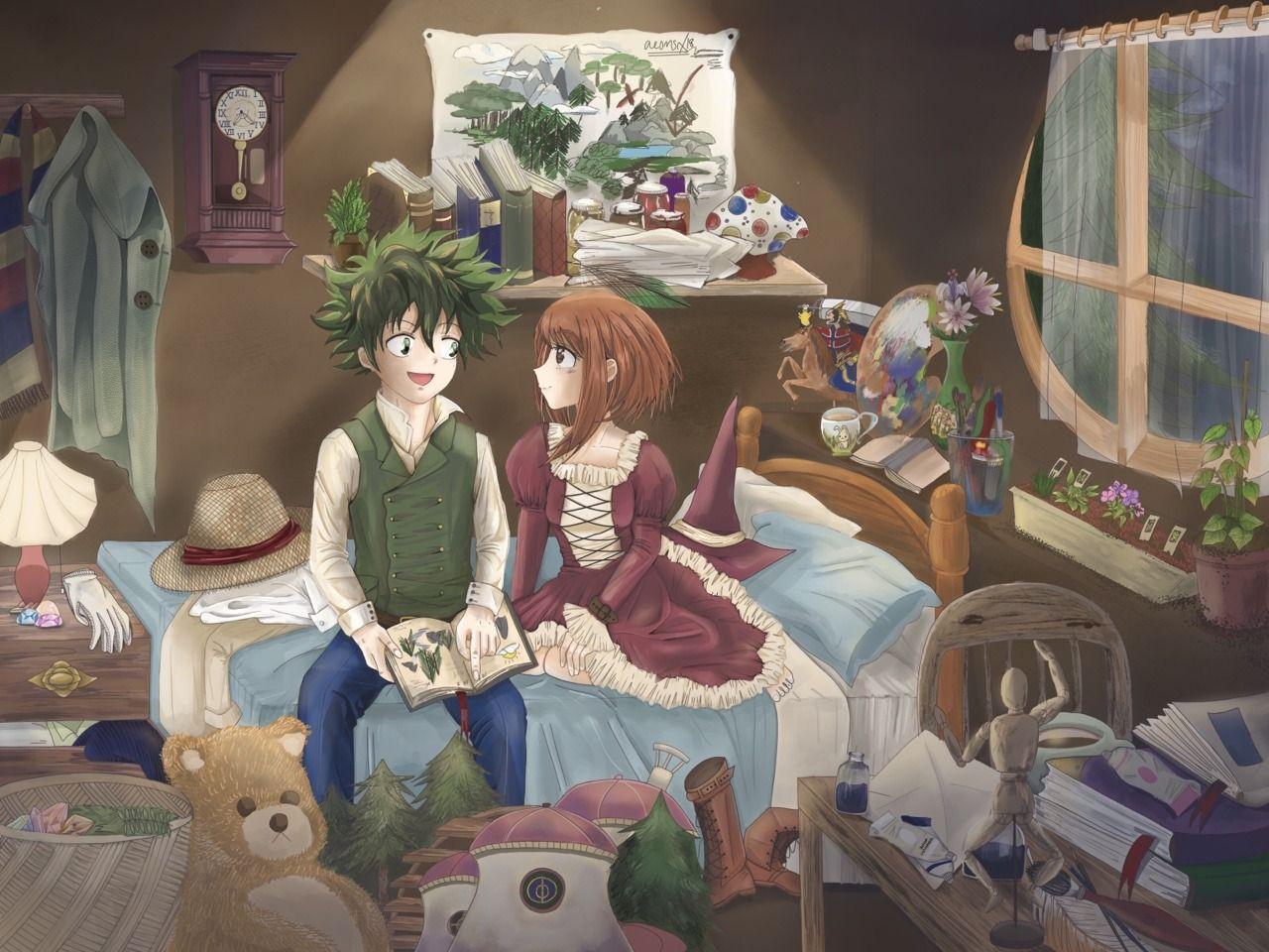 Pin By Justin Houlihan On Midoriya Izuku Deku And Uraraka Ochako Izuocha Dekuocha Anime Cupples Awesome Anime Anime