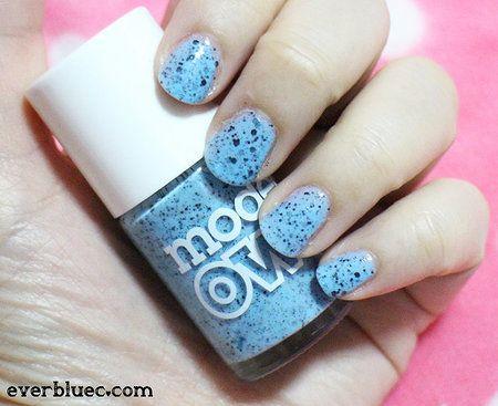 Models Own Speckled Eggs in Duck #blue #polish #nailart #nails - bellashoot.com