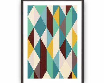Scandinavian poster, Modern poster, Wall art, Wall print, Minimalist art print, Abstract poster, Home decor art, Office decor art, Modern