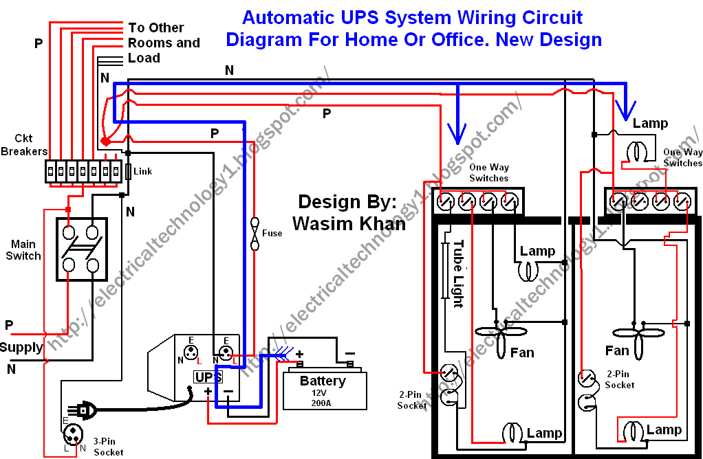 How To Connect Automatic Ups Inverter To The Home Supply System Ups System House Wiring Home Electrical Wiring