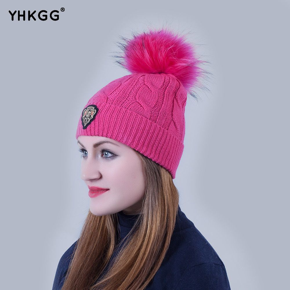 11866afa815 Products · Casual Knitted Beanie with Fur Ball