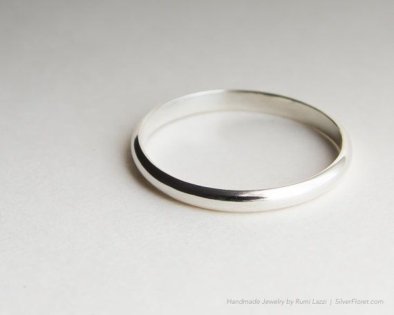 Extra Thin Wedding Band Slim Plain Sterling Silver Ring By Silverfloret