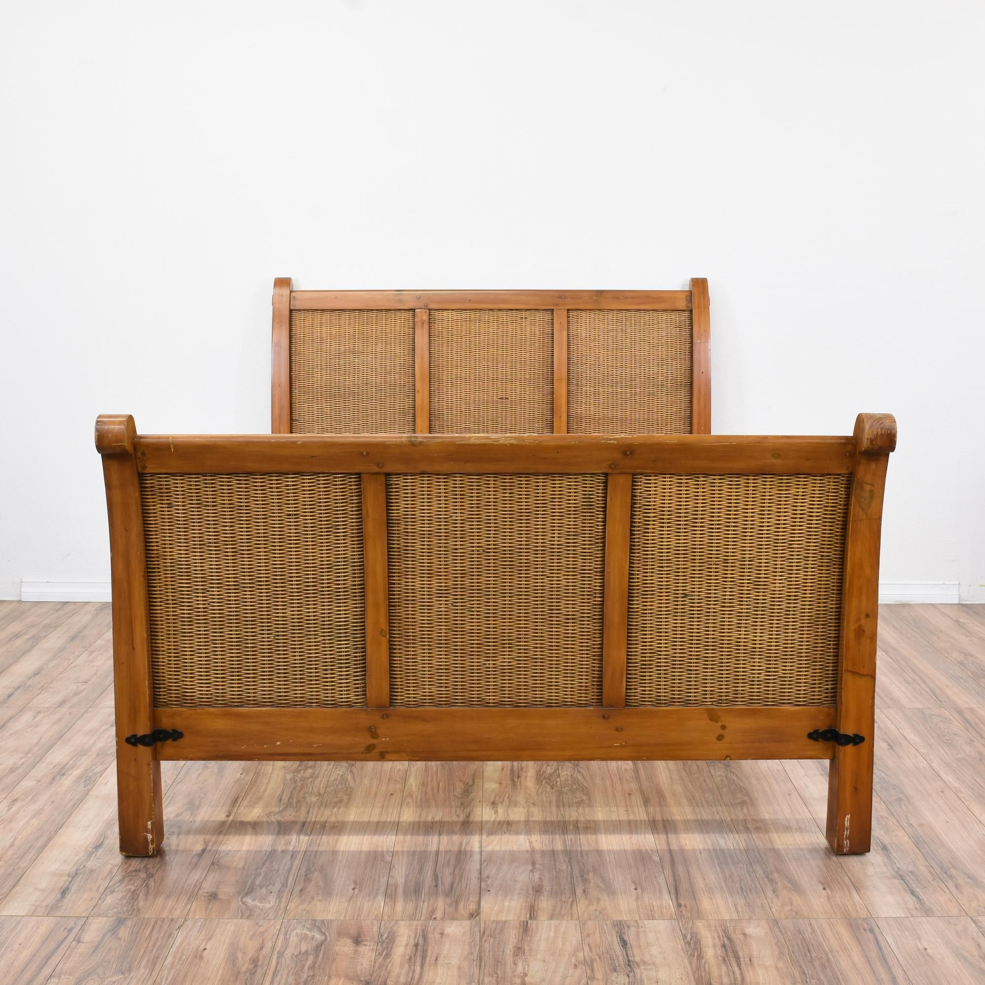 tropical woven wicker queen sized bed frame - Wicker Bed Frame