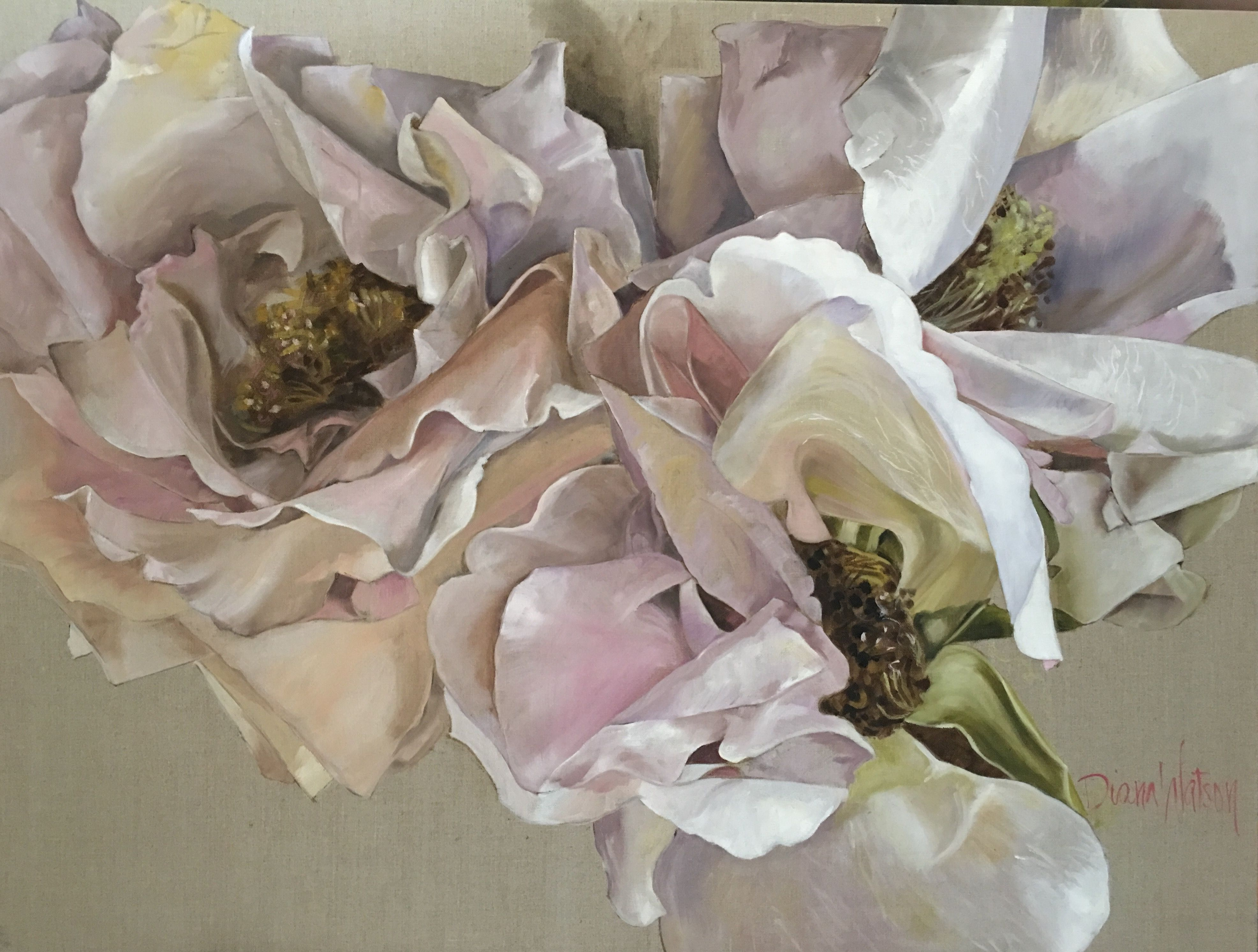 Pin By Diana Watson On Christmas: Diana Watson Painting LOST IN THE GARDEN 92x122