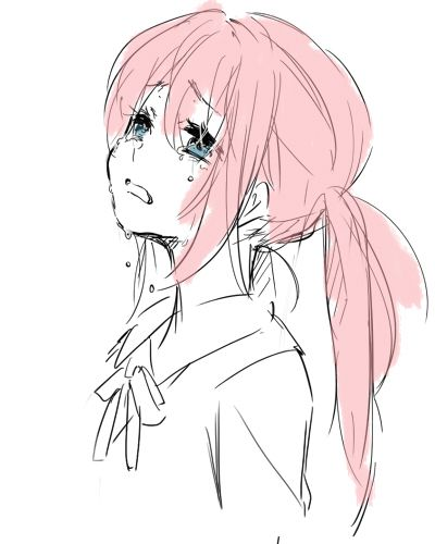 anime #crying girl #anime