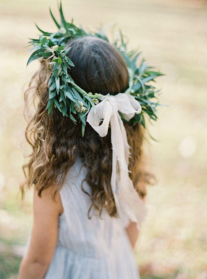 Adorable flower girl hair wreath.