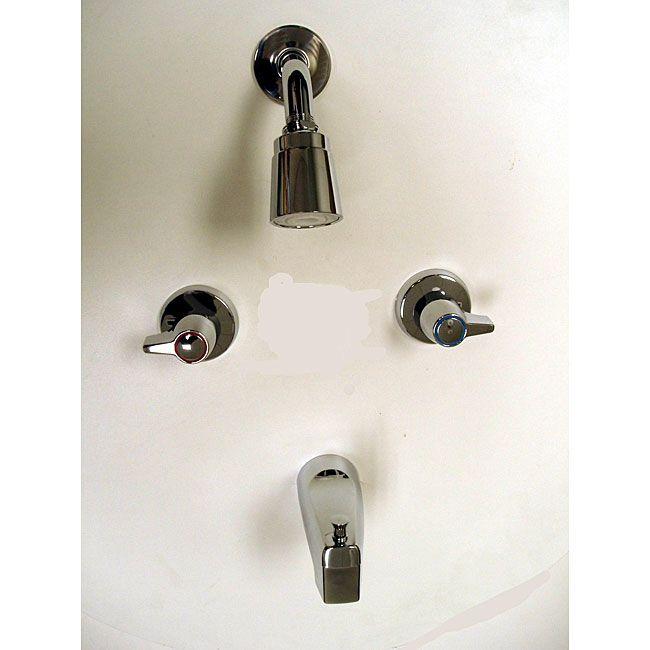 Moen 2-handle Chrome (Grey) Tub/ Shower Faucet | Bathrooms ...