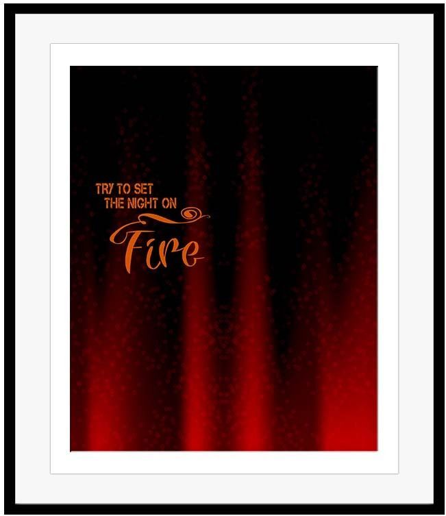 The Doors Poster LIGHT MY FIRE Lyrics Graphic Illustration 60s Psychedelic Rock