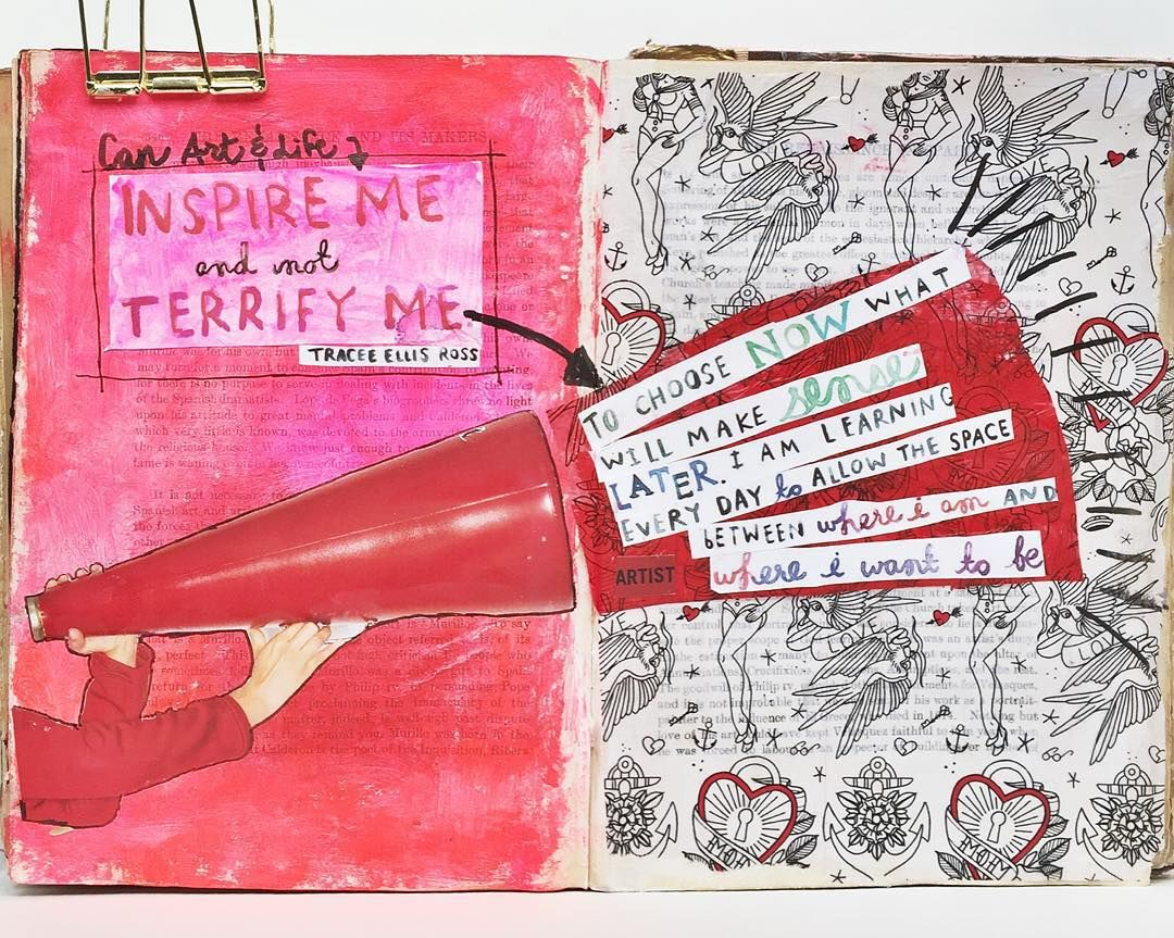 @questionable | Inspire Me (and not) Terrify Me | Season of Words | Get Messy Art Journal