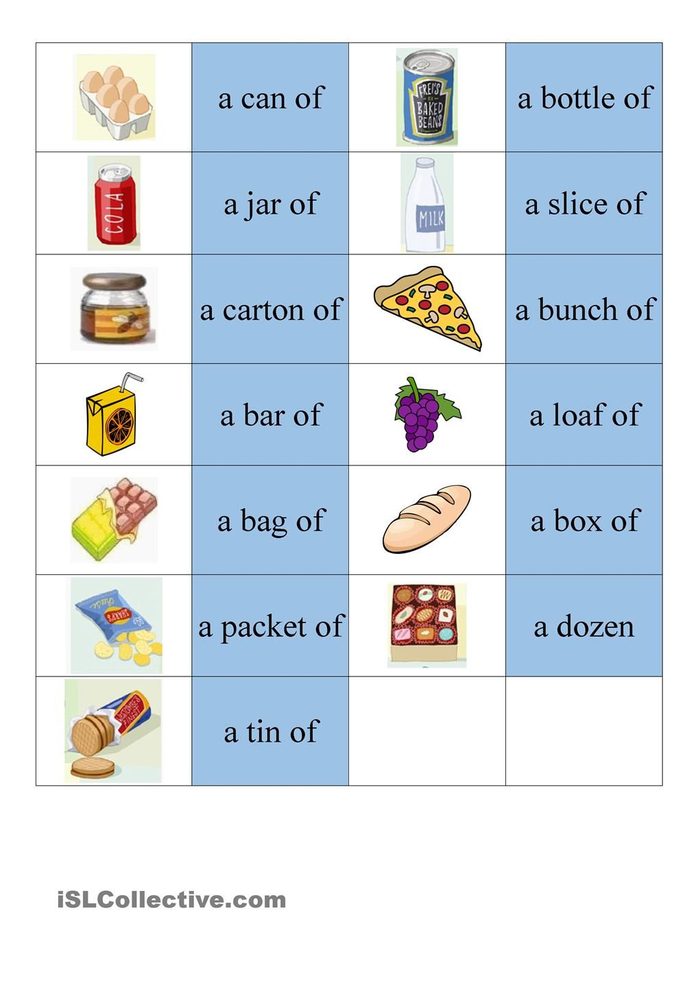 Containers Dominoes English Worksheets For Kids English Vocabulary Teaching English [ 1440 x 1018 Pixel ]