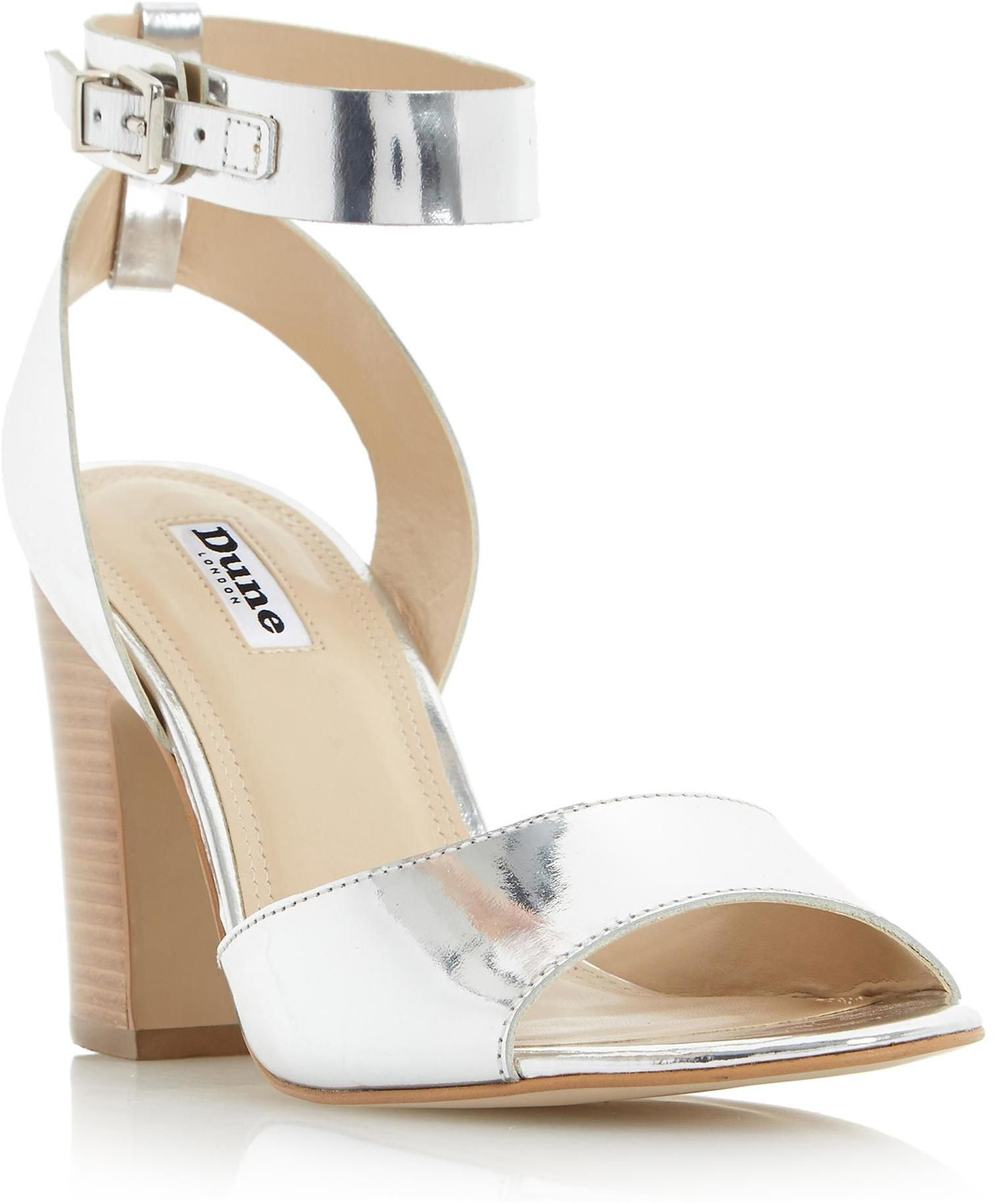 c92097fc69c65 Womens silver jamila two part ankle strap sandal from Dune - £80 at  ClothingByColour.com