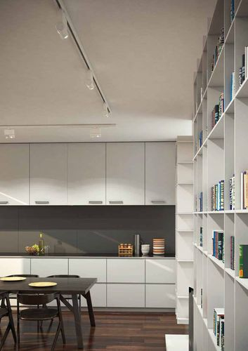 Illuminazione A Binario Per Cucina.Illuminazione A Binario Led Lineare Rotonda In Alluminio