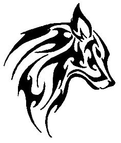 e335d87e8d3aa Wolf tattoo - Version 100% Black and White | art inspiration ...