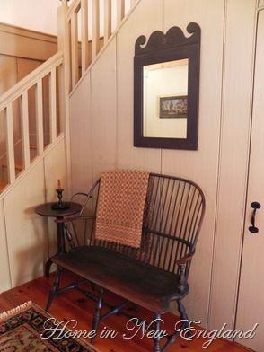 Phenomenal Windsor Bench And Colonial Style Irror Home Decorating Creativecarmelina Interior Chair Design Creativecarmelinacom