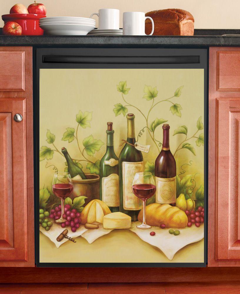 Tuscan Kitchen Decor Themes: Vineyard Dishwasher Magnet Cover