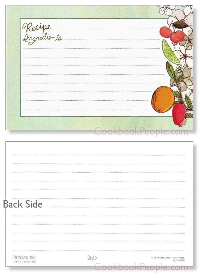 4x6 Fruit Fusions Recipe Card 40ea Recipe cards, Recipe binders - recipe card