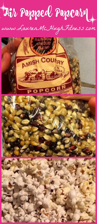 Air popped popcorn is one of my favorite healthy vegan