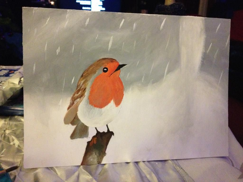 hand painted christmas cards - Google Search