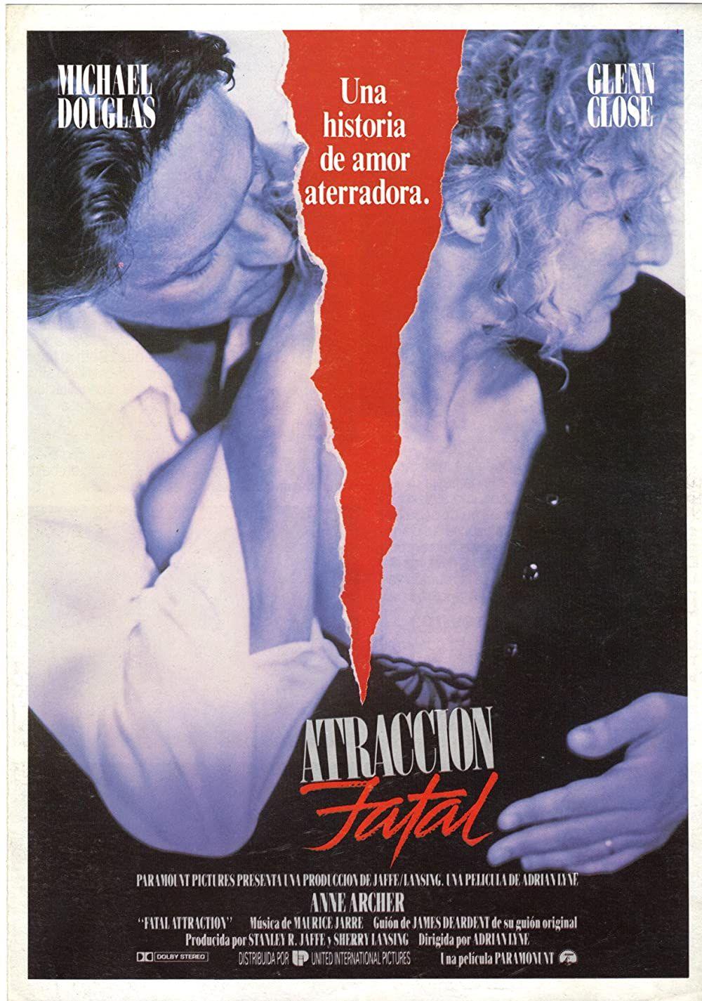 Fatal Attraction 1987 Atraccion Fatal Peliculas Afiche De Pelicula