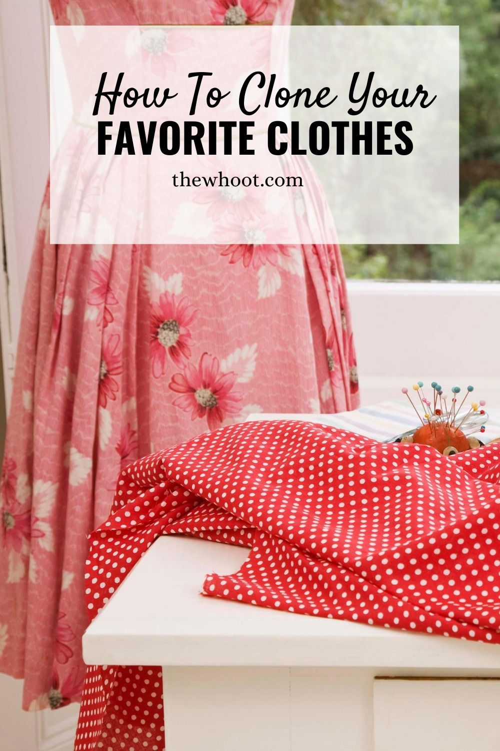 Create patterns from existing clothes video tutorial in