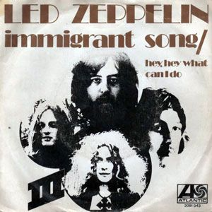 Led Zeppelin Immigrant Song Hey Hey What Can I Do Single
