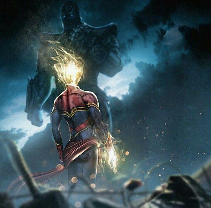 Captain Marvel vs Thanos.   Marvel   Ms marvel captain ...