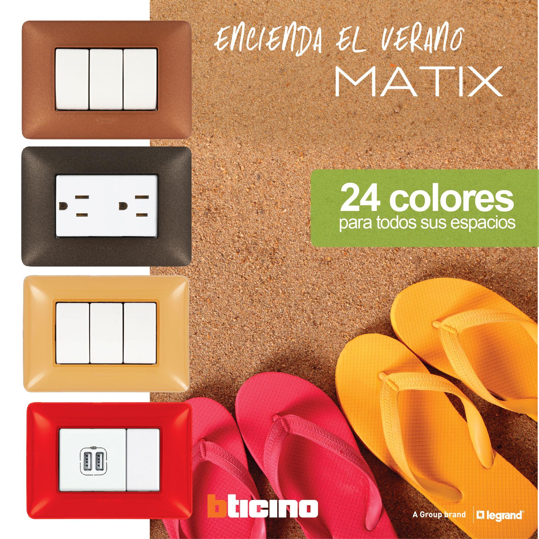 ¡Refresque su hogar u oficina este verano con 24 colores de #Matix! http://goo.gl/CwQC2t