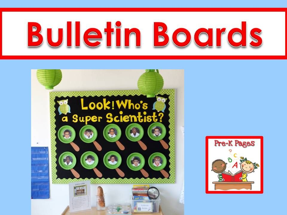 Bulletin Board ideas for your preschool, pre-k, and kindergarten classroom.
