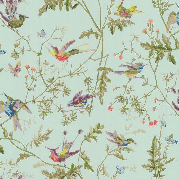 John Lewis COLE SON HUMMINGBIRDS WALLPAPER 62 1004 AQUA