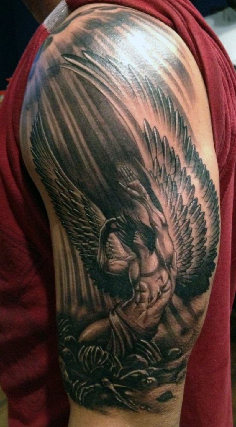 Engel Tattoo Symbole Angel Angeltattoo Samoantattoo Tattoos Tattoodesigns Angel Caido Tatuaje Disenos De Tatuaje De Angel Tatuajes De Angeles Guerreros