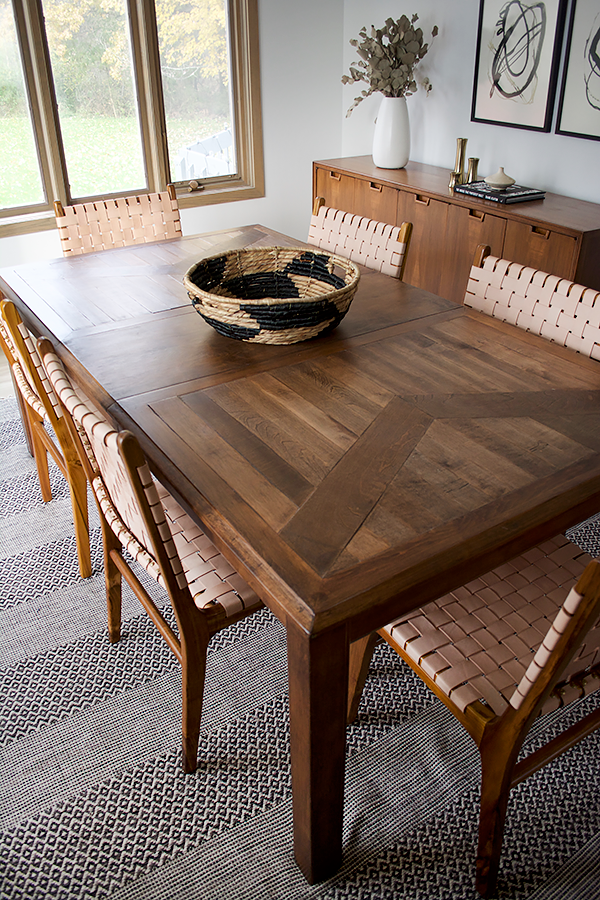 This Table Got A Huge Transformation And Was Turned Into A Modern Piece That Will Be Enjoyed For Y Large Dining Room Table Wood Dining Room Dining Table Design