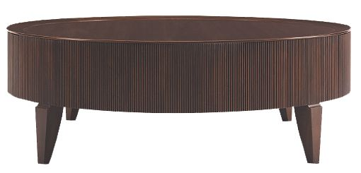 Living Room Reeded Round Cocktail Table Barbara Barry