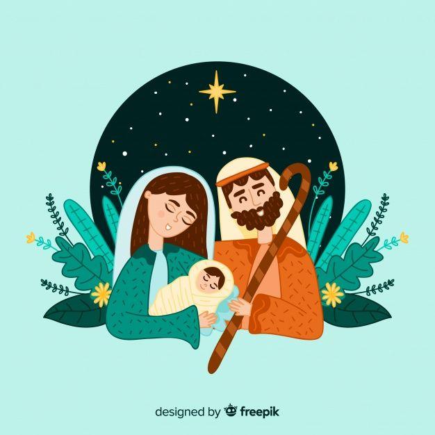 Nativity Scene Free Vector Christmas Illustration Catholic Images Christmas Mix