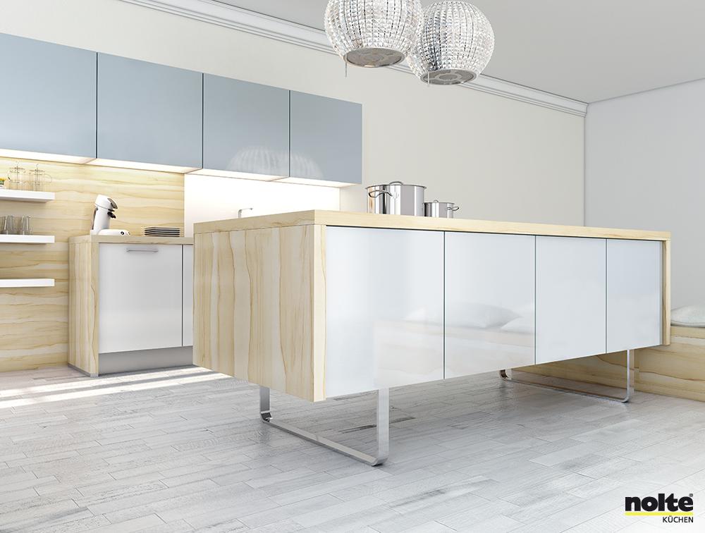 Top Design Keukens : Moderne keuken scandinavisch modern hout wit strak design