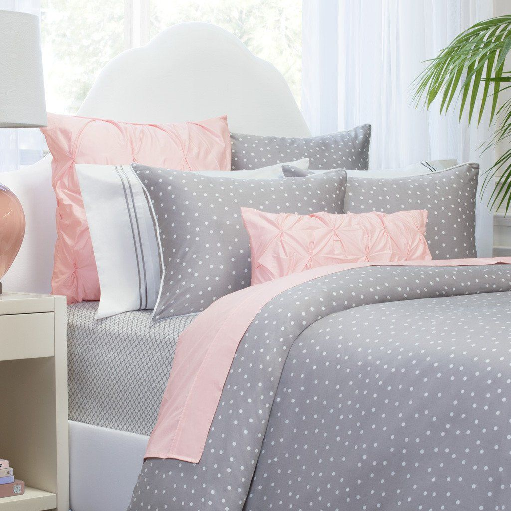 Bedroom Inspiration And Bedding Decor The Elsie Grey Duvet Cover Crane And Canopy Pink And Grey Bedding Bed Decor Gray Duvet Cover