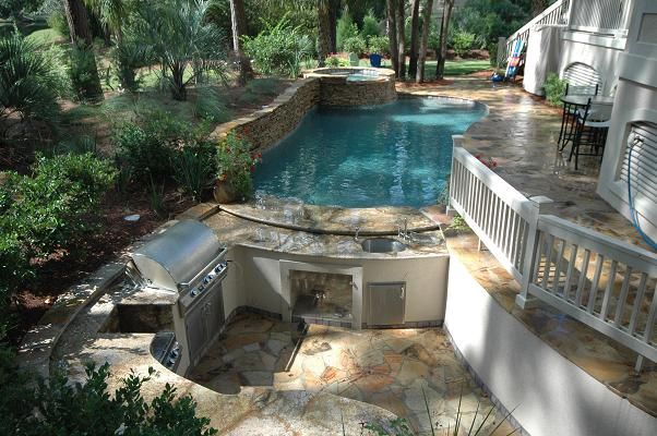 Awesome Free Form Residential Pool And Outdoor Sunken