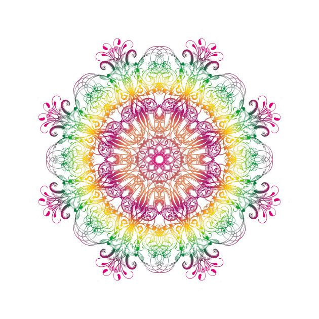 Check out this awesome 'Ethnic+floral+gradient+mandala