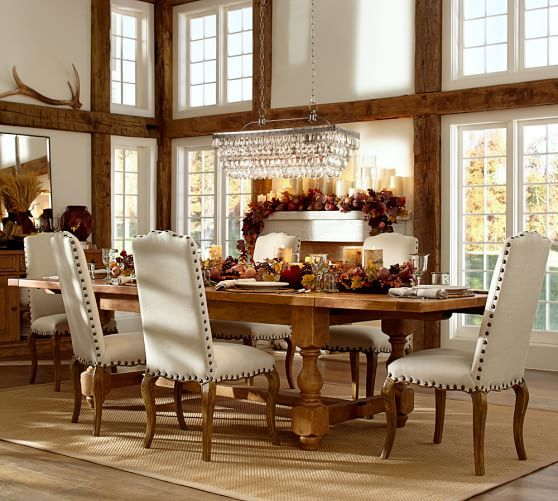 This Is The One Clarissa Glass Drop Extra Long Rectangular Chandelier Pottery Barn Dining Room