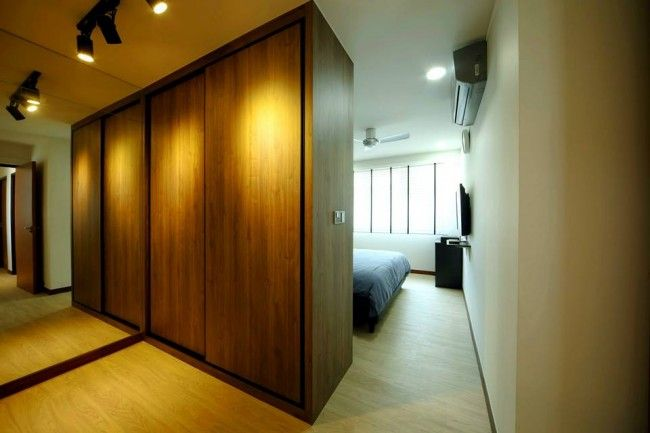 2Form Interior Design Pte Ltd - The wardrobe do double duty  carve out  your spaces