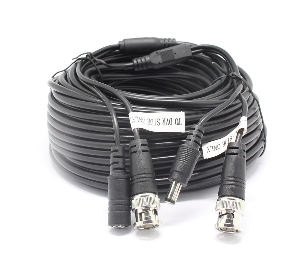 66ft Cctv Security Camera Cable Surveillance Wire Video Bnc Cord Wiring Cameras Power Dvr 20m