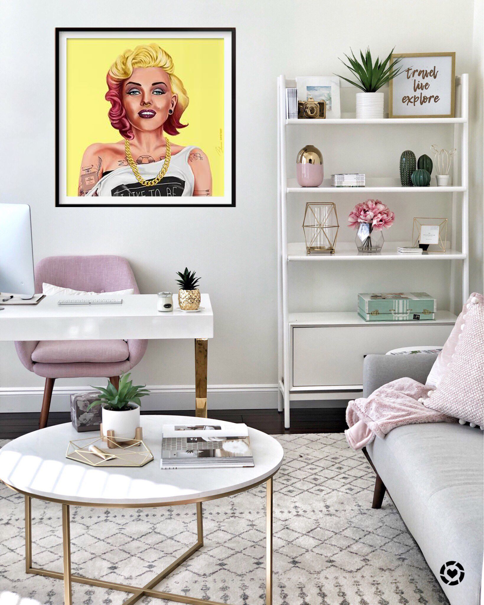 SALE!! MARILYN MONROE Hipster Wall Papers 70x70cm On My