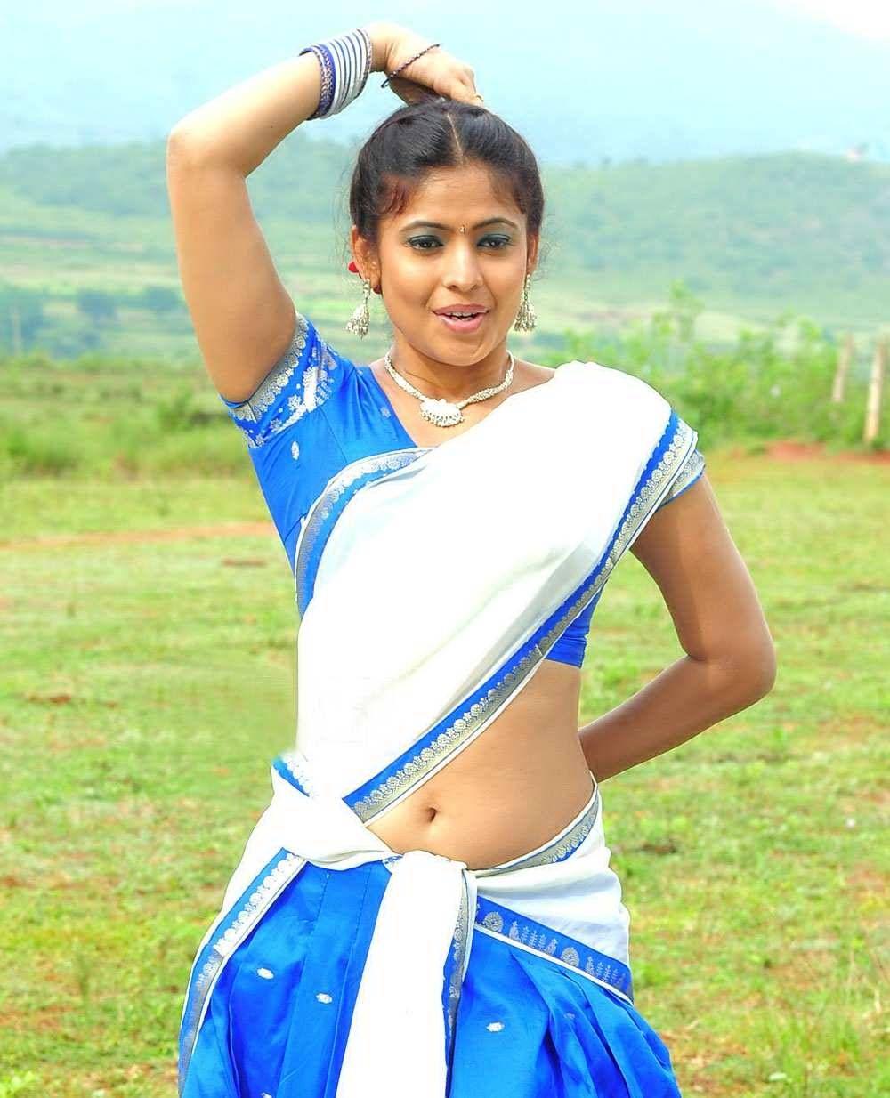 Hot Masala Actress Saira Banu Saree Pics