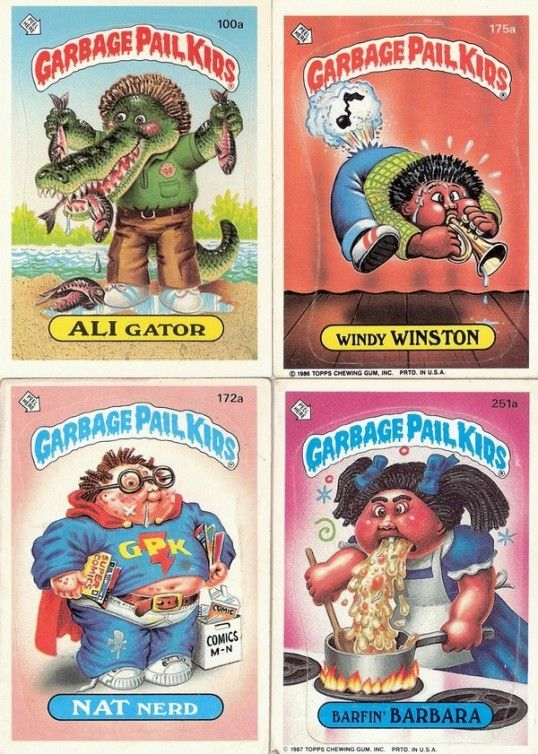 Popular Toys And Games From The 1970s And 1980s Garbage Pail Kids Garbage Pail Kids Cards Childhood Toys