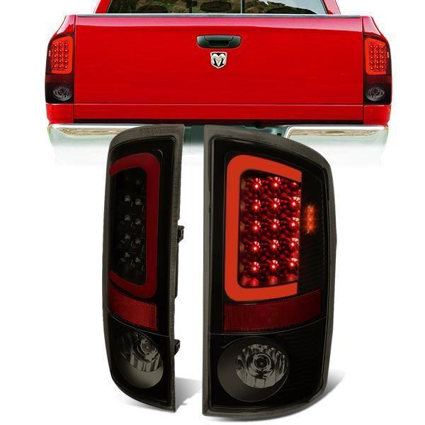 07 09 Dodge Ram 1500 2500 3500 Red C Bar Led Rear Brake Tail Lights Tinted Tail Light Ram 1500 Dodge Ram 1500