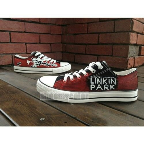 30b77289316d linkin park converse! linkin park converse! Custom Painted Shoes