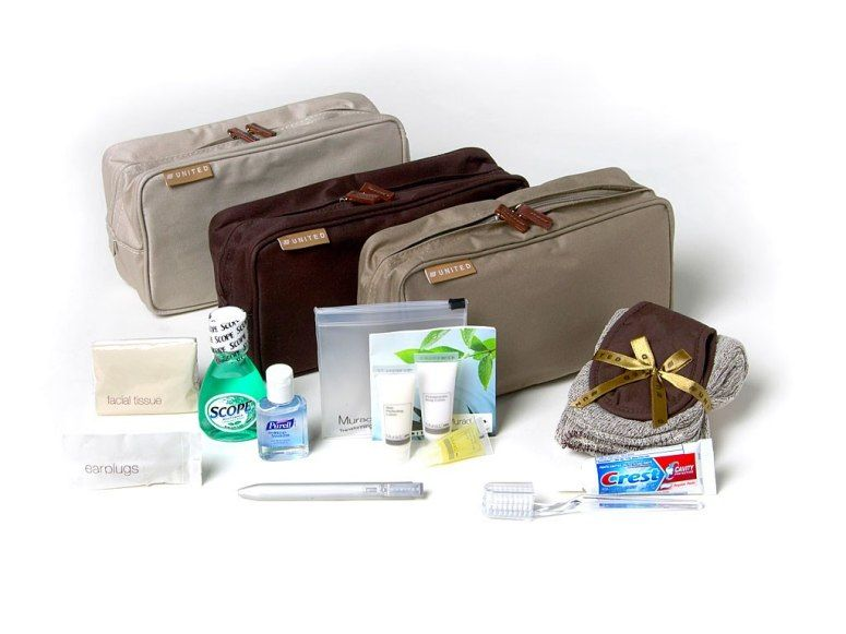First Class Travel What S Inside Airline Amenity Kits Travel