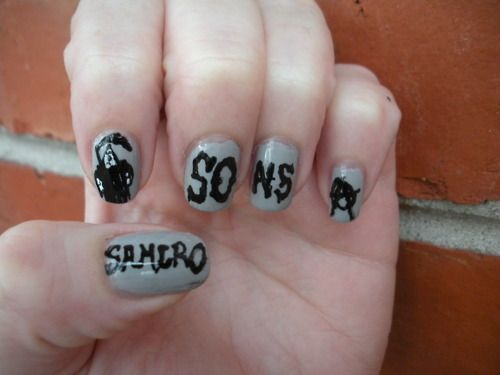 SAMCRO nails | Sons of Anarchy Obsession | Pinterest ...