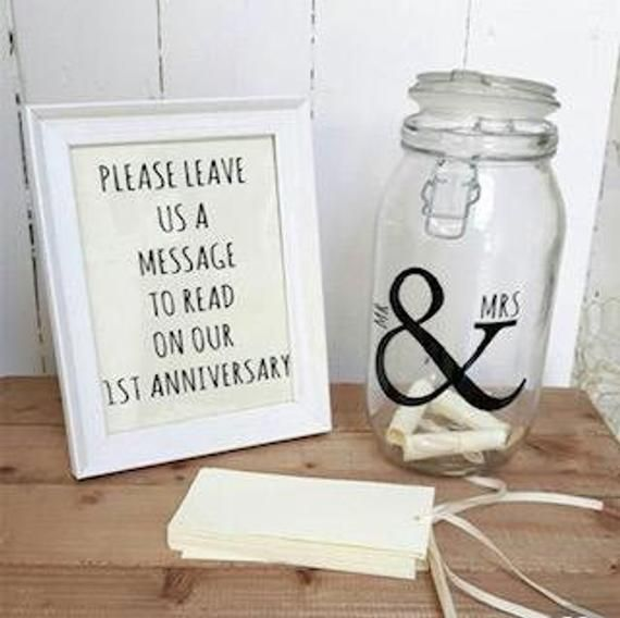 Mr /& Mrs Jar Sticker Mr /& Mrs mason jar decal Mr and Mrs wedding sticker