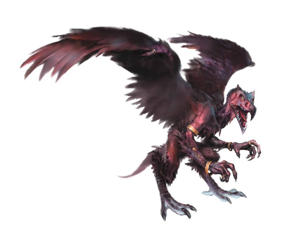 Vrock Demon - Pathfinder PFRPG DND D&D 3 5 5E 5th ed d20 fantasy